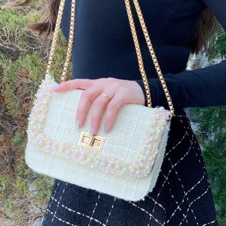 Tweed Handbag and Skirt