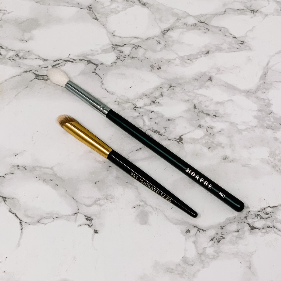 Pat McGrath Labs Concealer Brush compared to a Morphe eyeshadow brush
