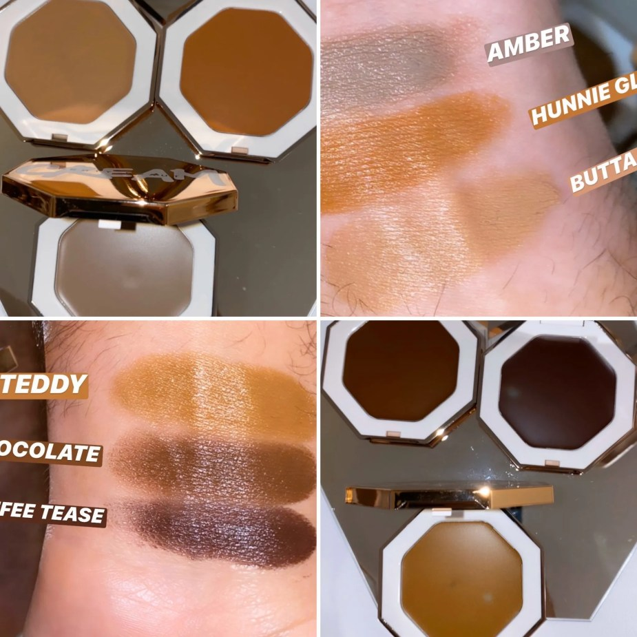 Fenty Beauty Cheeks Out Freestyle Cream Bronzer - Amber, Hunnie Glaze, Butta Biscuit, Teddy, Chocolate, Toffee Tease