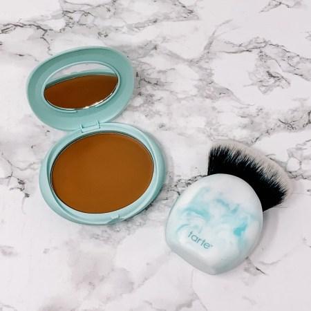 Tarte SEA Breezy Cream Bronzer Review - Seychelles and Tarte SEA Breezy Blender Cream Bronzer Brush