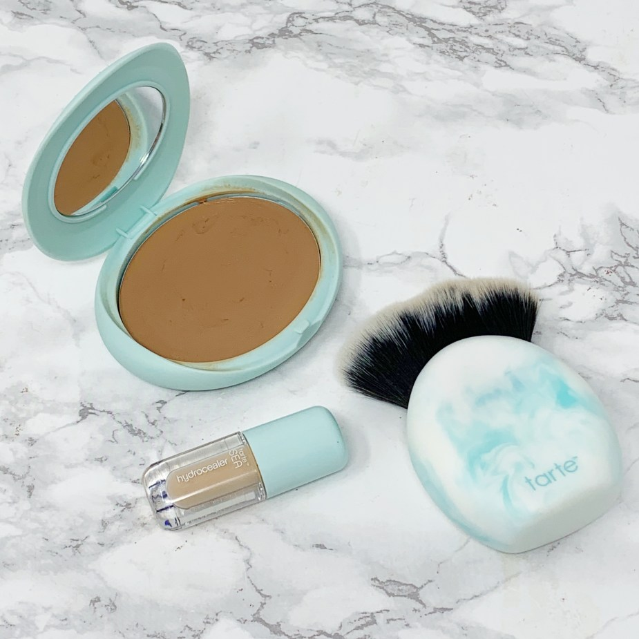Tarte Cosmetics SEA Hydrocealer 20N Light Neutral, Tarte SEA Breezy Cream Bronzer Seychelles, Tarte SEA Breezy Cream Bronzer Brush