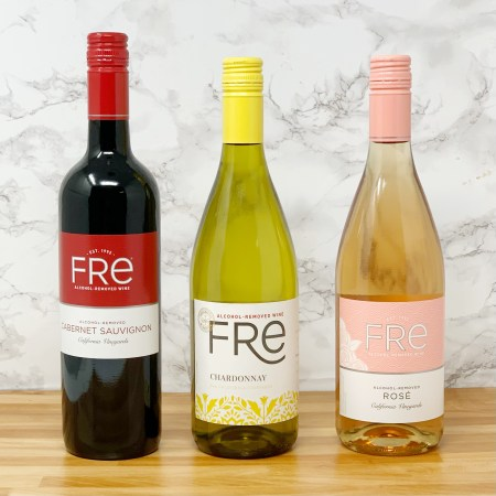 Fre Alcohol Removed Wine Cabernet Sauvignon, Chardonnay, and Rose non alcoholic wine