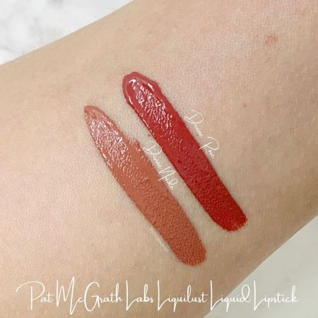 Pat McGrath Labs Liquilust Legendary Wear Matte Lipstick Divine Nude and Divine Rose Swatches