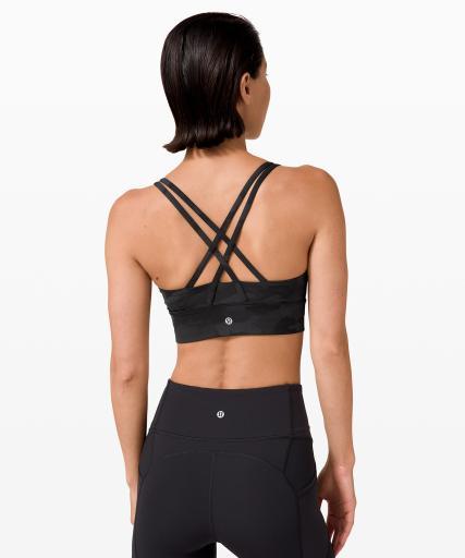 Lululemon Energy Bra Long Line back - Best Sports Bra for large bust - best sports bra for Large cup small band size