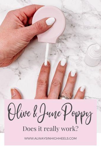 Olive & June Poppy Review Pinterest Pin