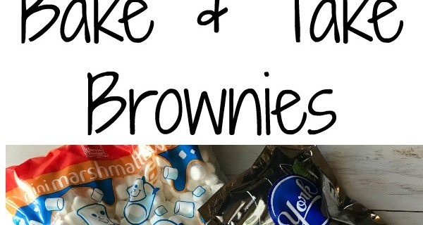 Easy Bake and Take Brownies with a Twist