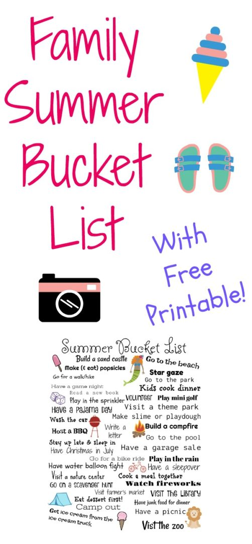 Family Summer Bucket List | AlwaysMovingMommy.com | Easy, affordable ideas for your summer.