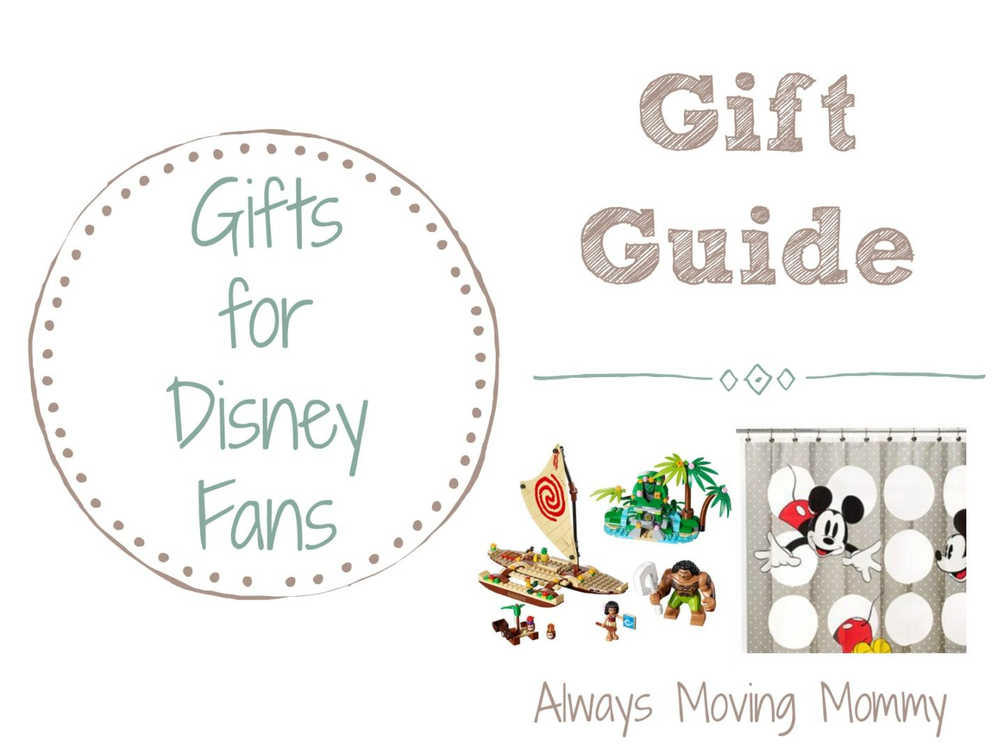 Gift Guide: Gift Ideas for Disney Fans | Always Moving Mommy | If there's a Disney fan on your list, you need these ideas!