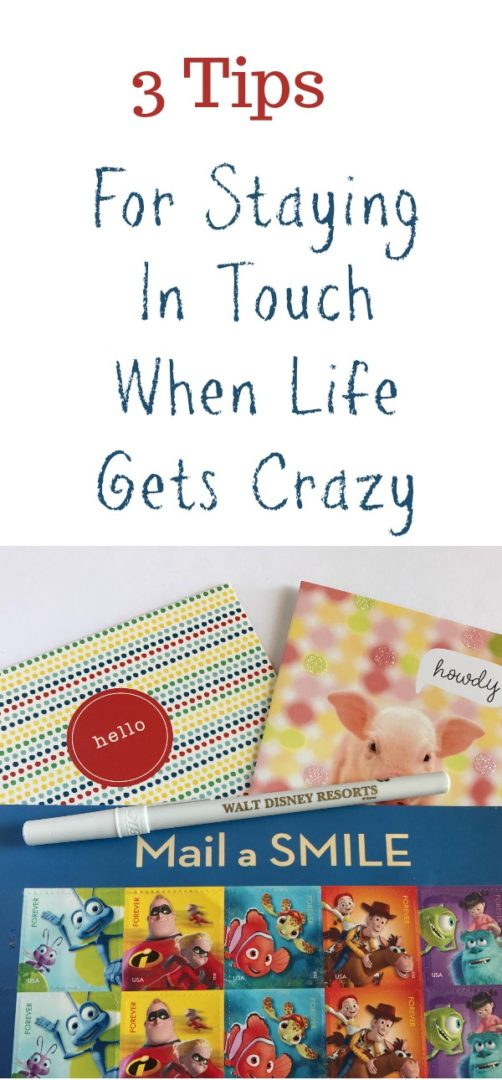 3 Tips for Staying In Touch When Life Gets Crazy   Always Moving Mommy   Life gets crazy but don't forget to make time for some human connection