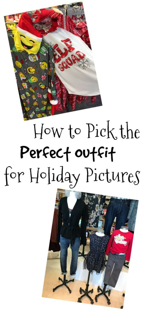 How to Pick the Perfect Outfit for Holiday Pictures | AlwaysMovingMommy.com | These tips will help you pick the perfect outfit for your family's holiday pictures without the stress.