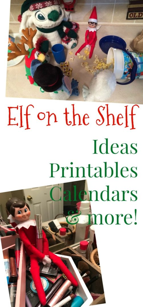 Elf on the Shelf Ideas | AlwaysMovingMommy.com | Does your Elf on the Shelf need some more ideas? Check out this list complete with printables and calendars!