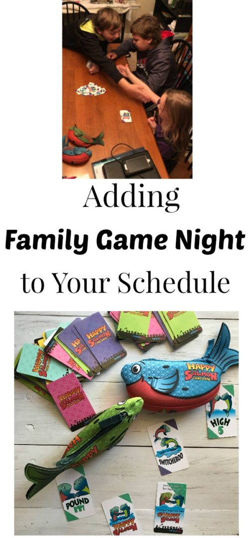 Adding Family Game Night to Your Schedule | AlwaysMovingMommy.com | Adding family game night to your schedule doesn't have to mean adding more work. #ad #northstargames #happysalmon