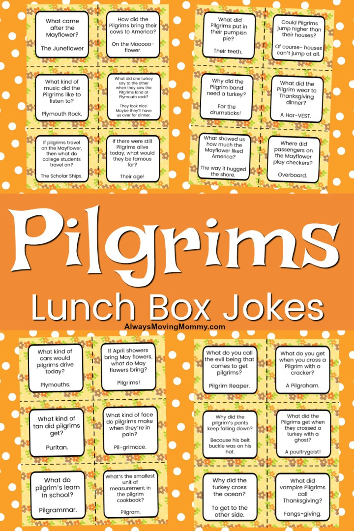 Free Printable Lunch Box Jokes for Thanksgiving