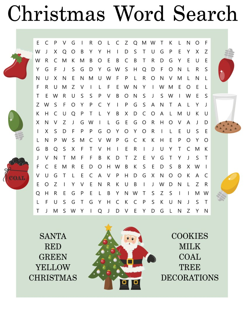 Free Printable Christmas Word Search | AlwaysMovingMommy.com