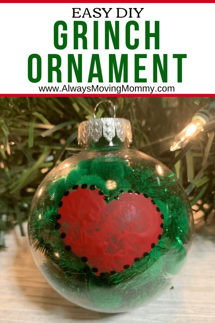 DIY Grinch Ornament | AlwaysMovingMommy.com