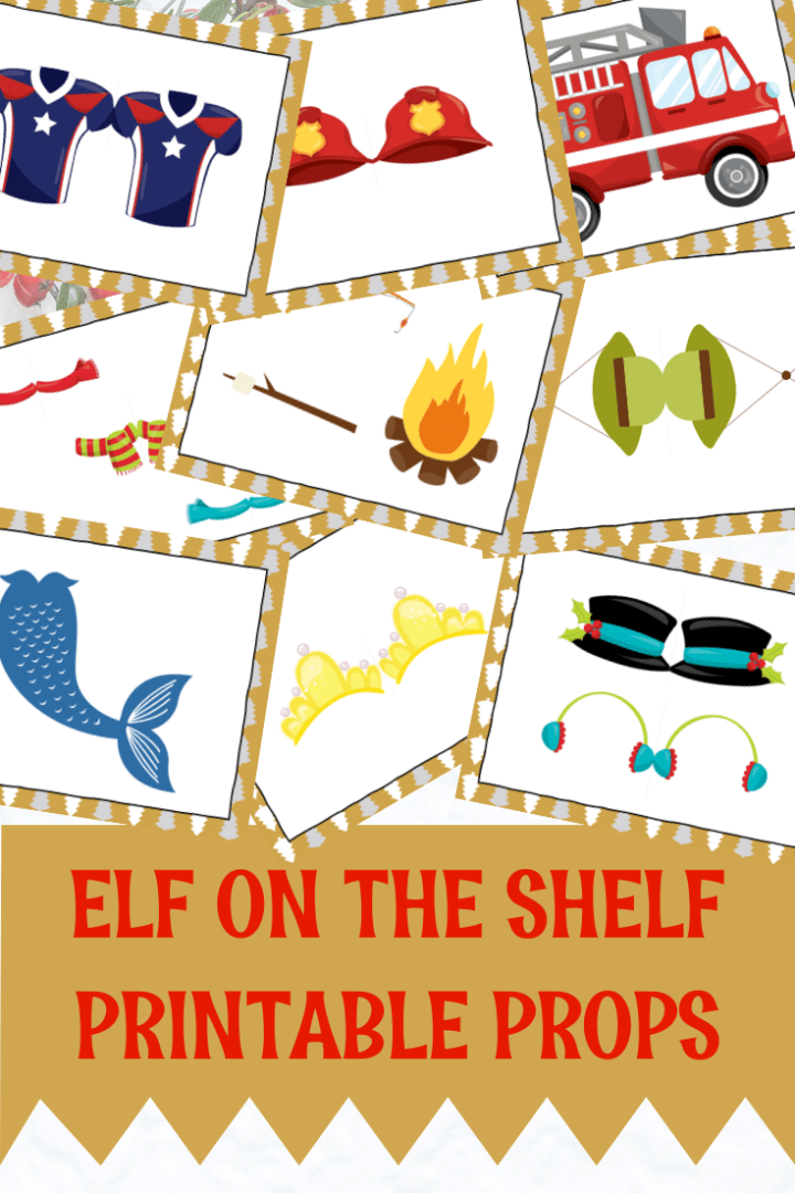 Free Elf on the Shelf mermaid props | Always Moving Mommy