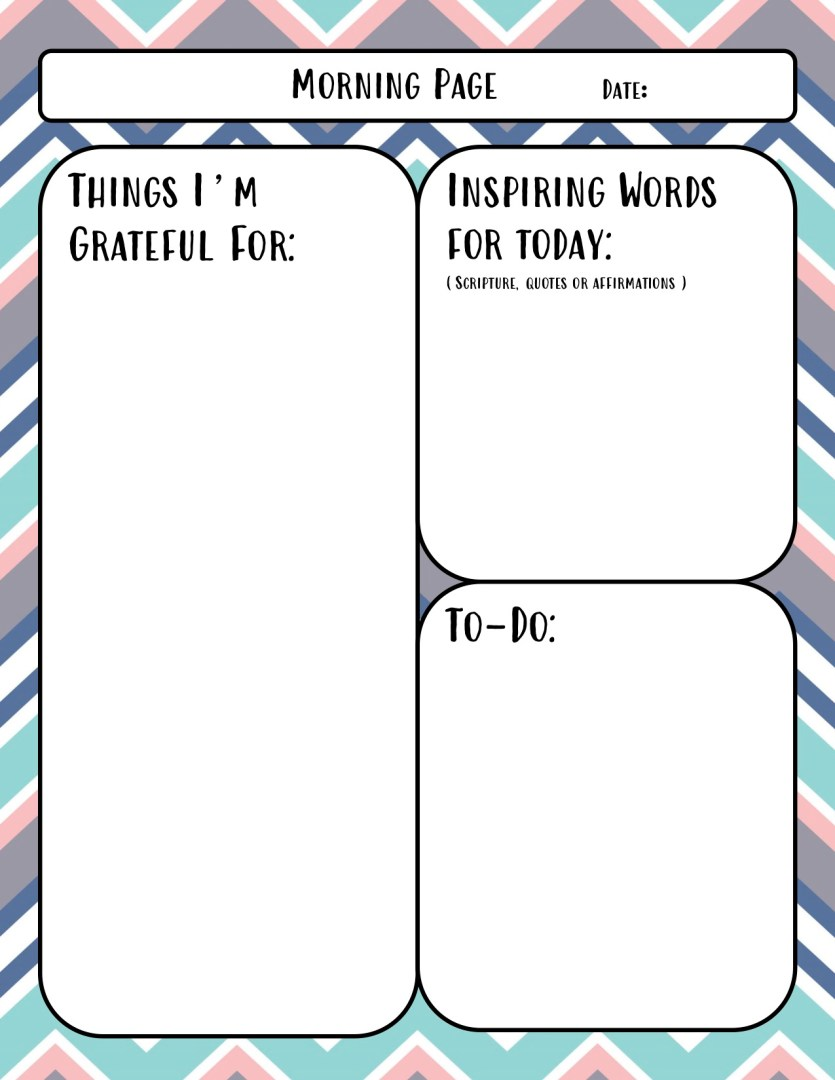 Free Printable Self Care Journal for Moms Morning Page