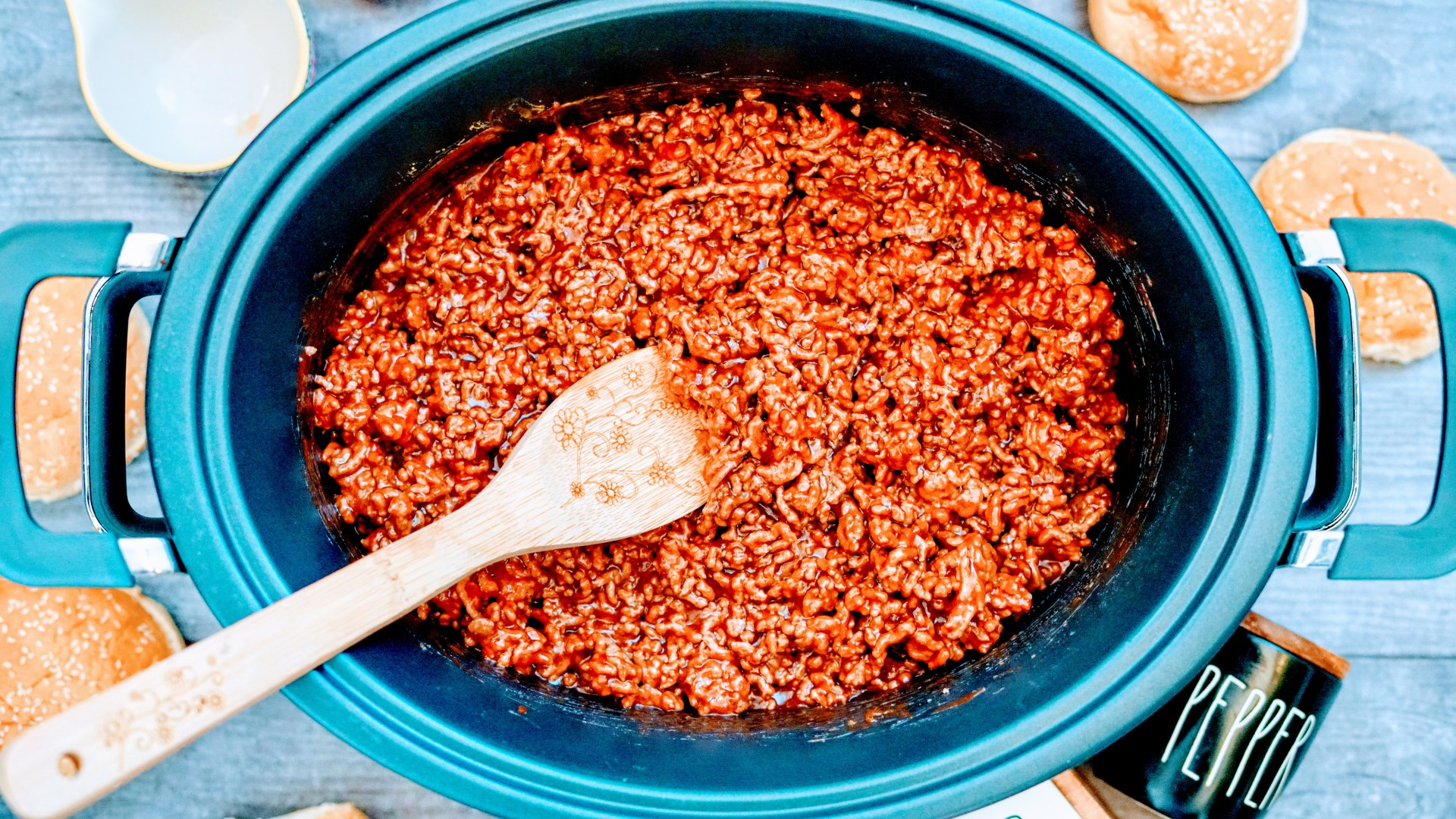 Slow Cooker Sloppy Joes in Slow Cooker