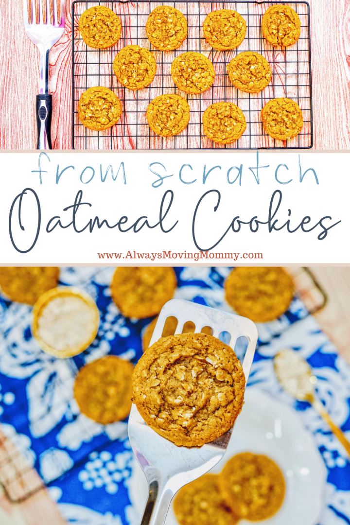 homemade oatmeal cookies from scratch