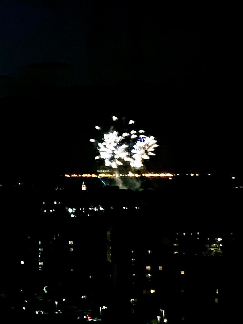 Watching fireworks from your Good Neighbor Hotel