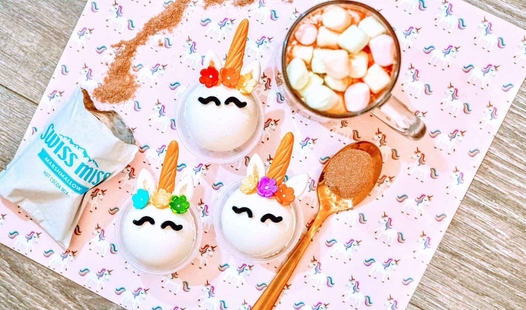 Make your own unicorn hot cocoa bombs at home