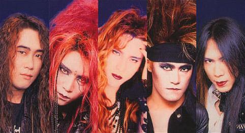 ヴィジュアル系ファッションのメンバー5人のX JAPANの画像
