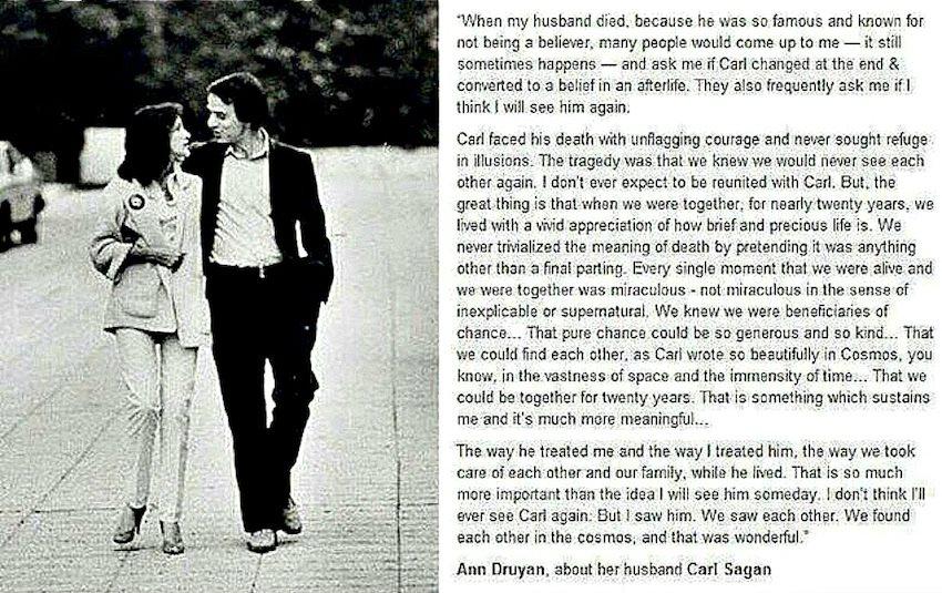 ATHEISM Ann Druyan About Her Husband Carl Sagan MUST