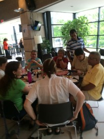 Our Cuban friends at lunch