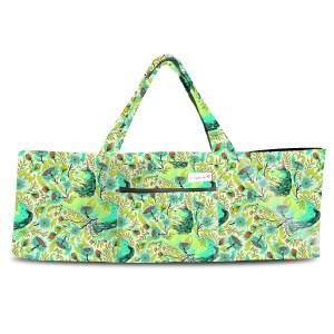 Magical Poppies Lime Shoulder Yoga Bag 201903OTS
