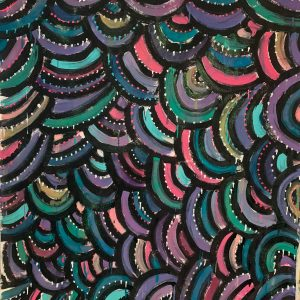 Painted Fabric - Cloan Clouds