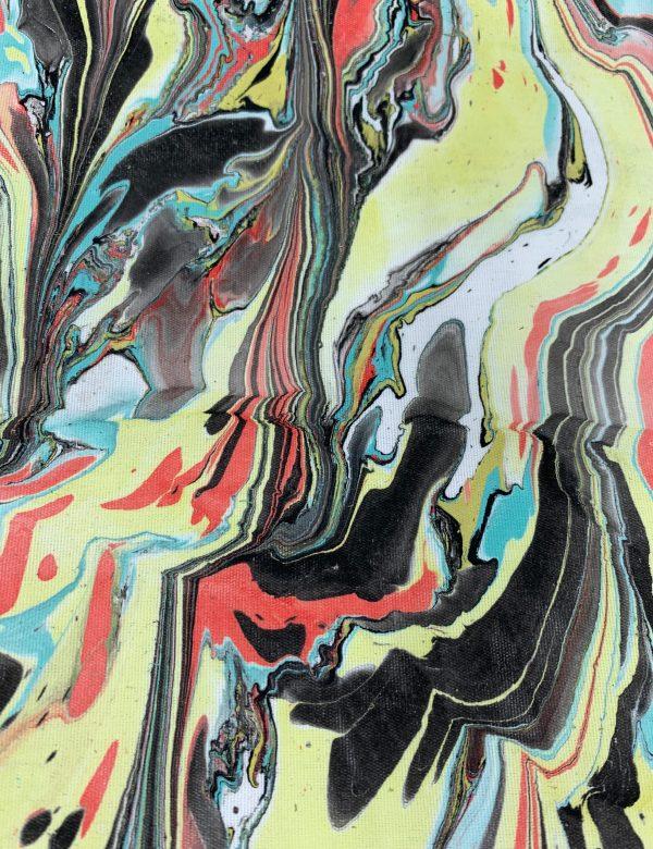 Water Marbled Fabric - Gotham