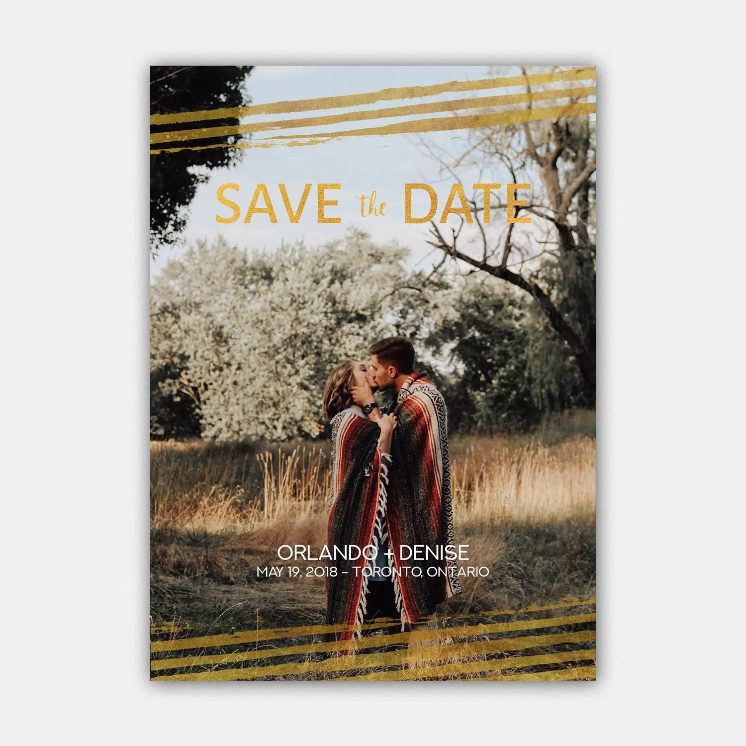 golden save the date template