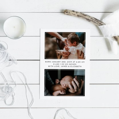 blessing birth announcement template