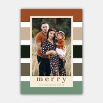 Colorful Stripes Christmas Card Template