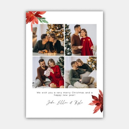 Merry Leaves Christmas Card Template