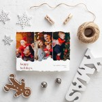 Scarlet Happy Christmas Card Template