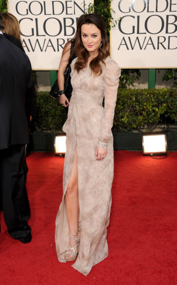A2F Best Dressed: Leighton Meester in Burberry Prorsum