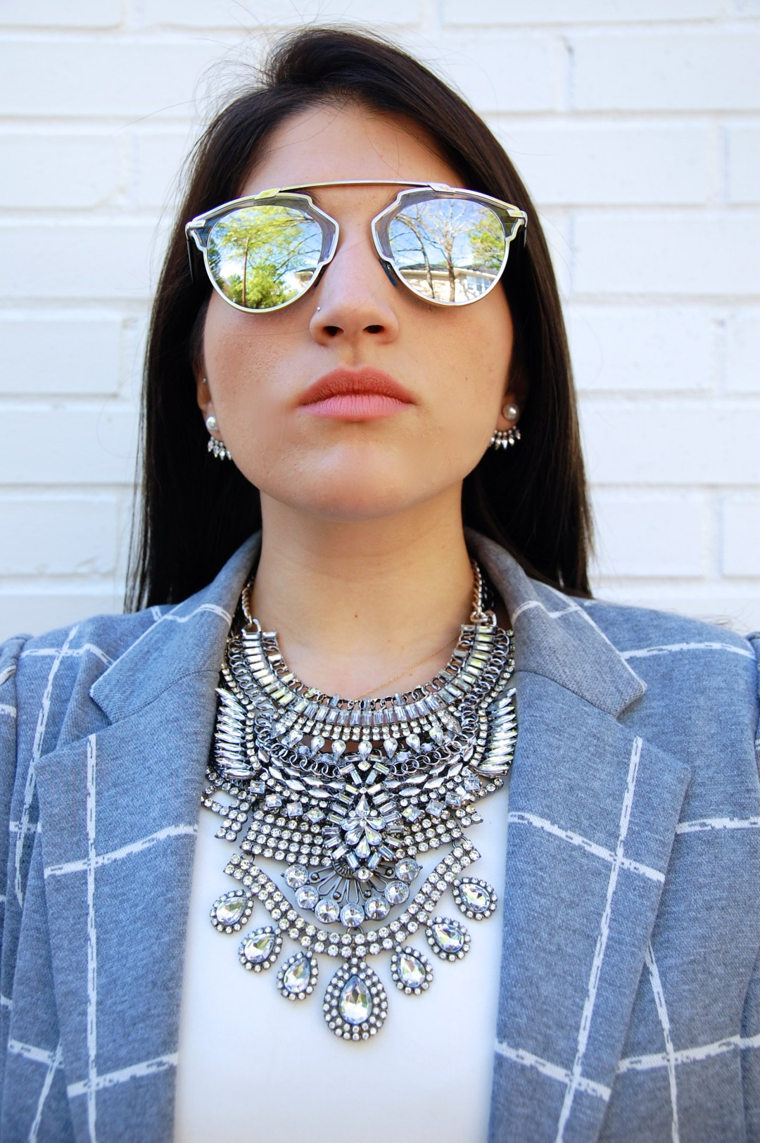 A2F Dior Sunglasses & Mirina Collections Necklace
