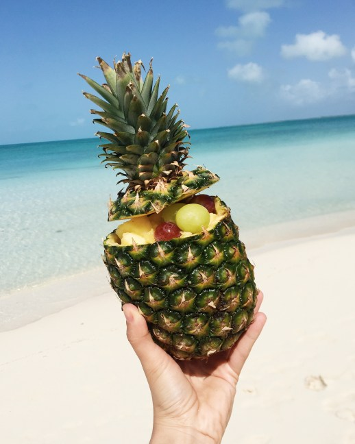 A2F Turks and Caicos Pineapple stuffed with fruit
