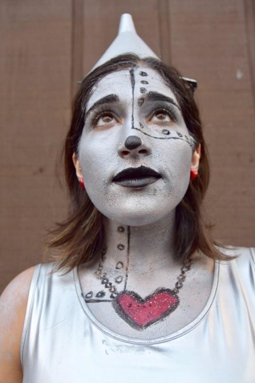A2F Wizard of Oz Tinman Aya up close make up shot