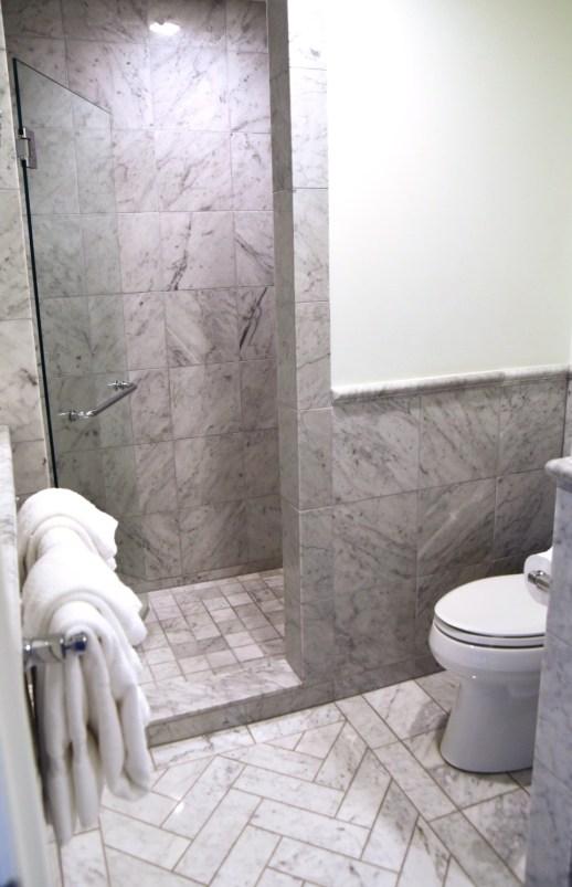 Charleston Place all marble hotel bathroom