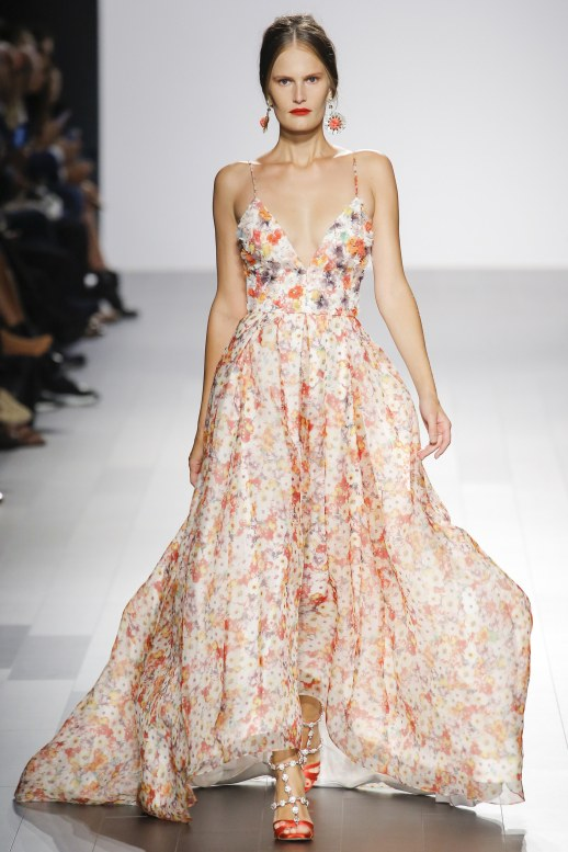 A2F NYFW S/S 2018 Floral Blooms Badgley Mischka