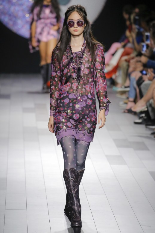 A2F NYFW S/S 2018 Sheer Elegance Anna Sui