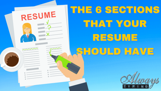 6 sections of your resume