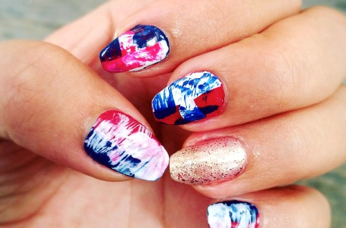 abstract 4th of July nail art, Happy Independence day! Always Uttori