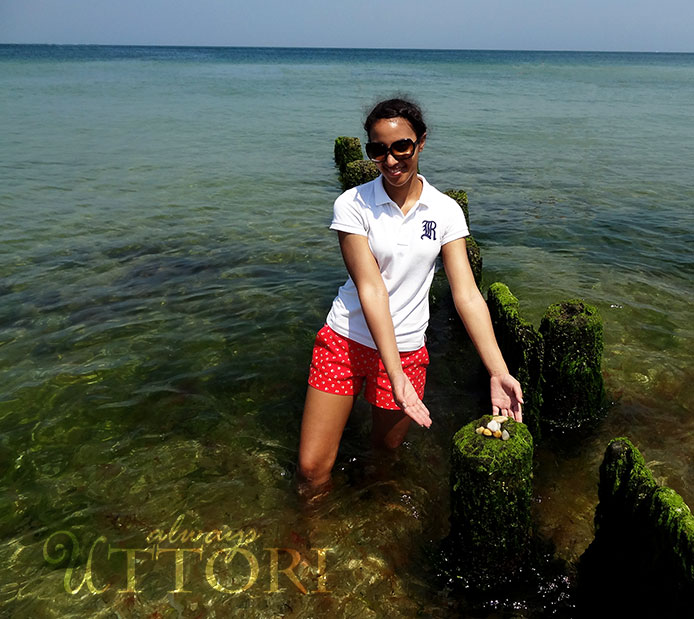 Posing in the Atlantic ocean at Martha's Vineyard, always uttori, alternate universe, travel