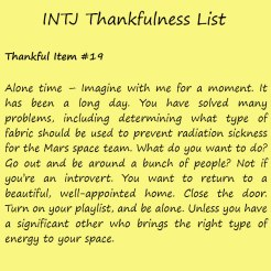 Introvert Life: The Thankful INTJ. Thankful -19