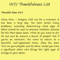 Introvert Life: The Thankful INTJ. Thankful -19