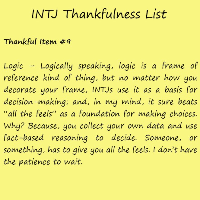 Introvert Life: The Thankful INTJ. Thankful-9