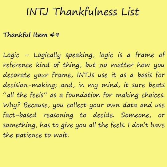 Introvert Life: The Thankful INTJ. Thankful-9